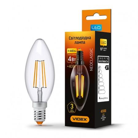 Купить недорого Лампа Filament C37F E14 4Вт 440Лм 3000К Videx VL-C37F-04143 (23679) ☎ (066) 882 49 97 ✓ лучшие цены ✓ бесплатная доставка по Украине ✓ отзывы и фото ✓ точка выдачи в Киеве