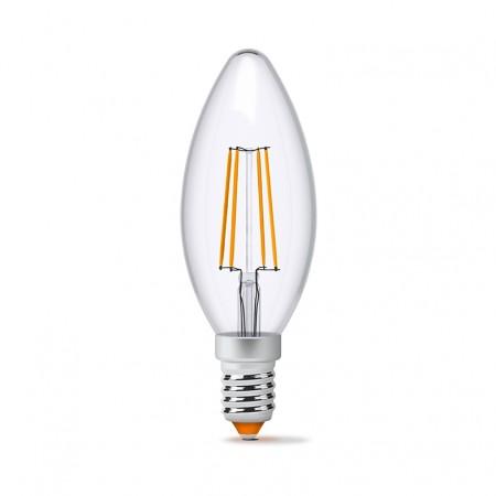 Купить недорого Лампа Filament C37F E14 4Вт 440Лм 4100К Videx VL-C37F-04144 (23680) ☎ (066) 882 49 97 ✓ лучшие цены ✓ бесплатная доставка по Украине ✓ отзывы и фото ✓ точка выдачи в Киеве