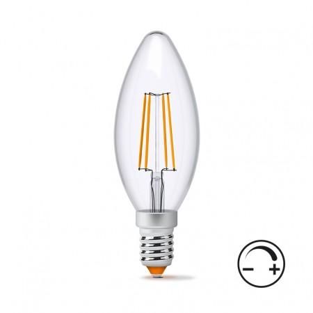 Купить Лампа Filament диммерная C37FD E14 4Вт 400Лм 4100К Videx VL-C37FD-04144 (23927) ☎ (067) 440 53 73 ☎ (066) 882 49 97 ✓ лучшие цены ✓ постоянные акции и скидки ✓ отзывы ✓ точка выдачи в Киеве