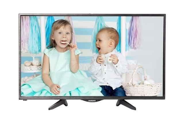 <p>Описание: <strong><br/>Телевизор  Romsat 32HH1830</strong><br/>Поддерживаемые форматы: <strong>AVI, MP4, MKV, AAC, MP3, JPG</strong><br/>Разъемы:  <strong>1 х RF; 2 х HDMI; 1 х ПК-RGB (VGA); 1 х ПК-Audio; 1 х YPbPr; 1 х AV in; 2 х USB; 1 х mini AV out (3,5 mm); 1 х Виход на наушники</strong><br/>Питание: <strong> 220В/50Гц, <45Вт</strong><br/>Комплектация: <strong>ТВ, ножки, Пульт дистанционного управления, Инструкция, Батарейки</strong><br/>Тип подсветки: <strong>DLED</strong><br/>Тип матрицы: <strong>MVA</strong><br/>Поддержка SmartTV: <strong>нет</strong><br/>Дигональ экрана: <strong>32</strong><br/>Цвет изделия: <strong>черный</strong><br/>Наличие медиа плеера: <strong>есть</strong><br/>Наличие Wi-Fi модуля: <strong>нет</strong><br/>Miracast/Wifi direct: <strong>нет</strong></p><br/><p>Дополнительное описание:<br/>Модель 32HH1830 с 32-дюймовой современной матрицей обеспечивает детальное, контрастное изображение, широкие углы обзора, четкие динамические сцены. Телевизор можно подключать к различным источникам цифрового видео сигнала с помощью разъема HDMI. Особенности функционала В телевизор встроен полноценный USB медиа-плеер для просмотра видео и фото многих форматов с внешних USB-накопителей. Имеет множество разъемов для подключения различных устройств. В том числе, телевизор можно подключить к персональному компьютеру в качестве компьютерного монитора. Дизайн Телевизор придется по душе ценителям оригинального дизайна. Передняя рамка 32HH1830 выполнена из дизайнерского полимерного материала. Нестандартный концепт передней части отлично подчеркнет ваш интерьер!</p>
